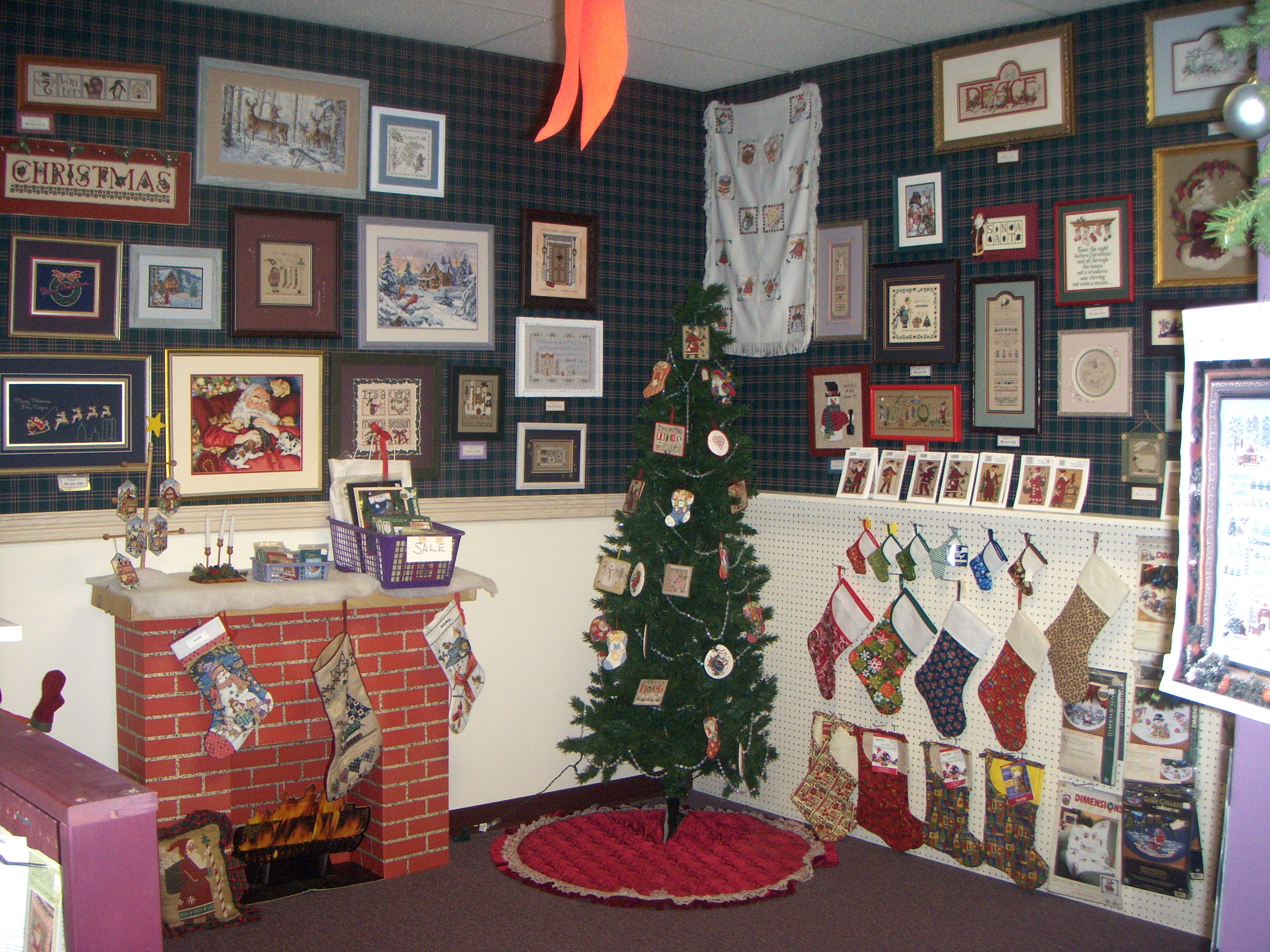 212e1a9fec6 We celebrate Christmas all year round in our Christmas room. It's full of  Christmas Kits of Stockings, Ornaments and Christmas Pictures both large  and small