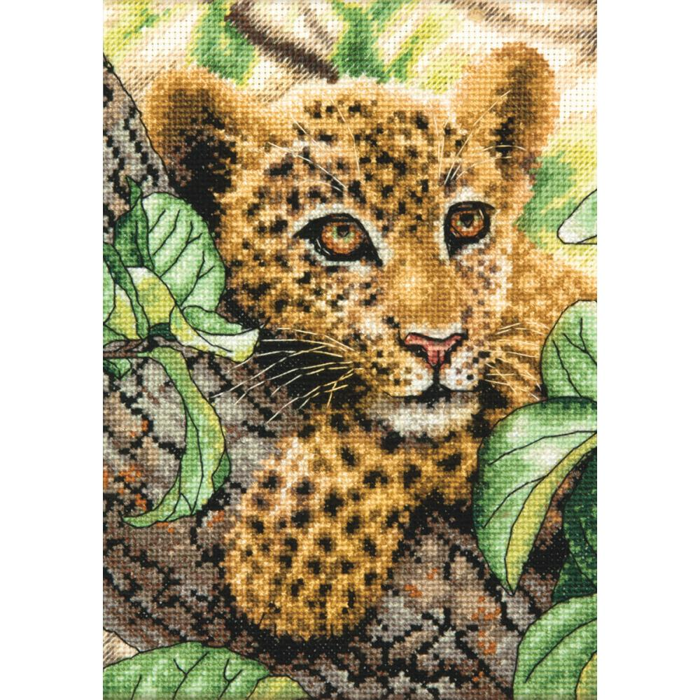Gold Petites Leopard Cub Counted Cross Stitch Kit